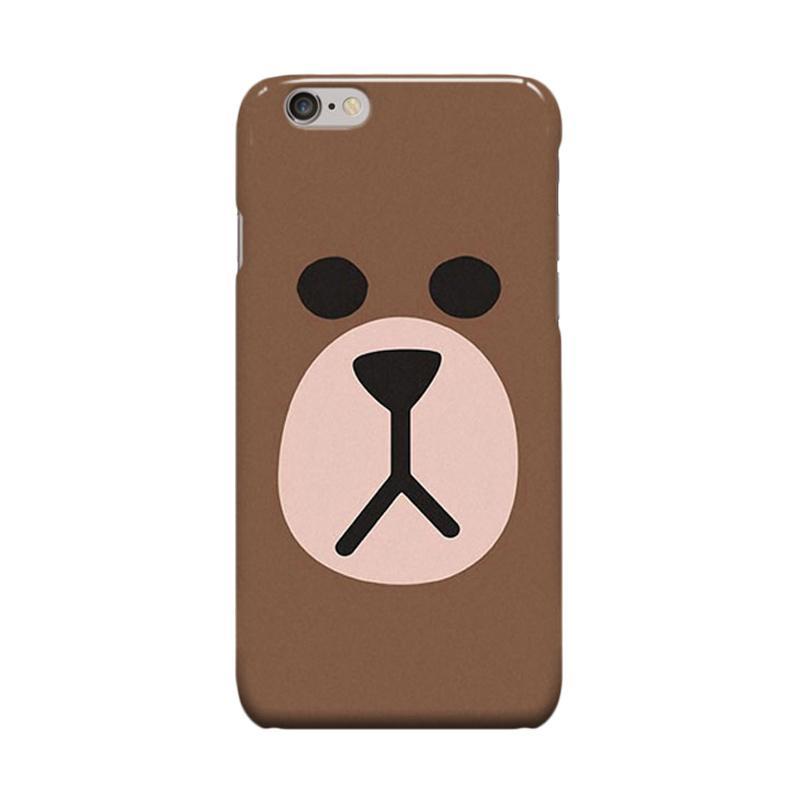 Indocustomcase Brown Casing for Apple iPhone 6 Plus or iPhone 6S Plus
