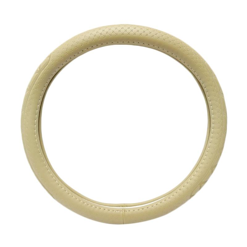 SIV Sarung Stir Mobil Import 5363 Steering Wheel Cover - Cream