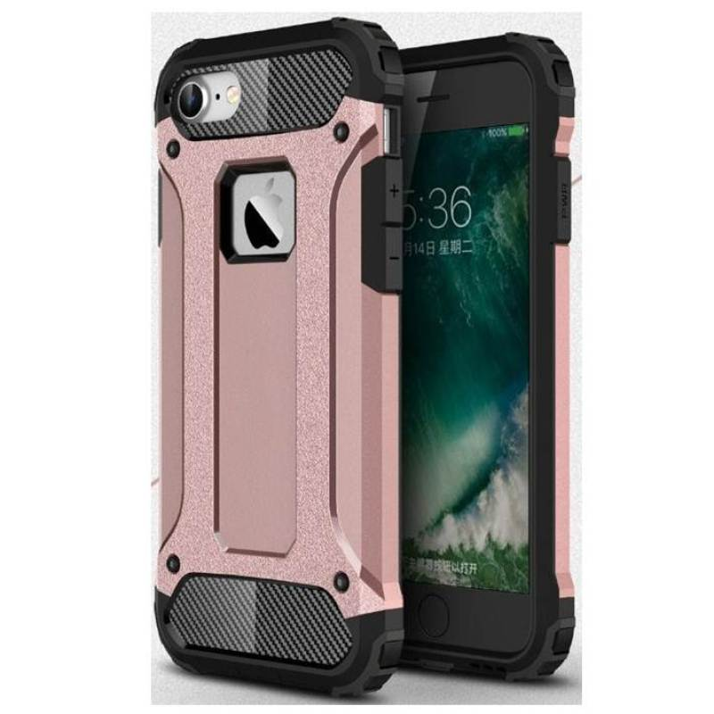 OEM Transformers Iron Robot Hardcase Casing for iPhone 6S Plus 5.5 Inch - Rose Gold