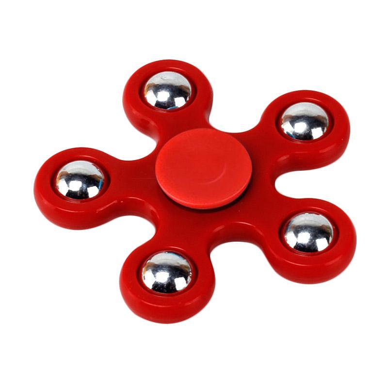 Aimons Fidget Spinner Model Bunga Hand Spinners Toys Mainan Melatih Focus - Merah