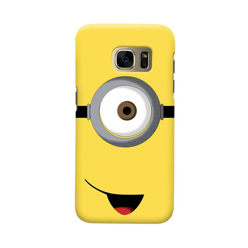 Indocustomcase Cartoon Minion Cover Casing for Samsung Galaxy S6 Edge