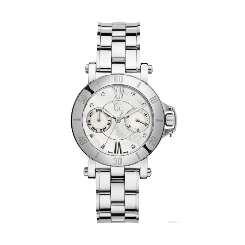 Guess Collection X74103L1S Gc Stainless Diamond Jam Tangan Wanita - Silver