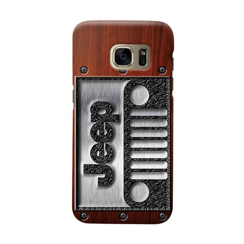 Indocustomcase Jeep On Wood Cover Casing for Samsung Galaxy S6 Edge