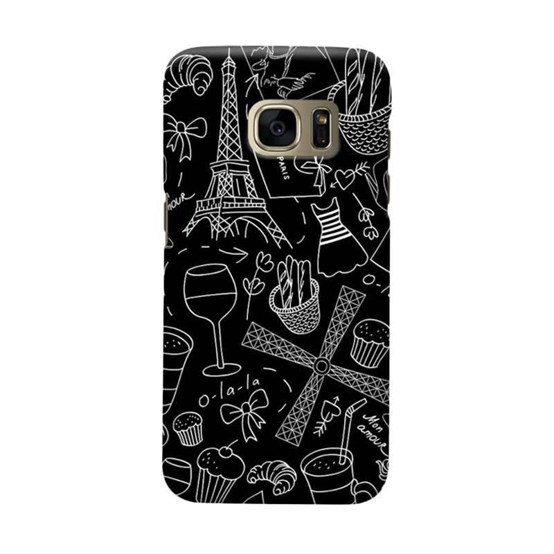 Indocustomcase Paris Soft Art Cover Casing for Samsung Galaxy S6