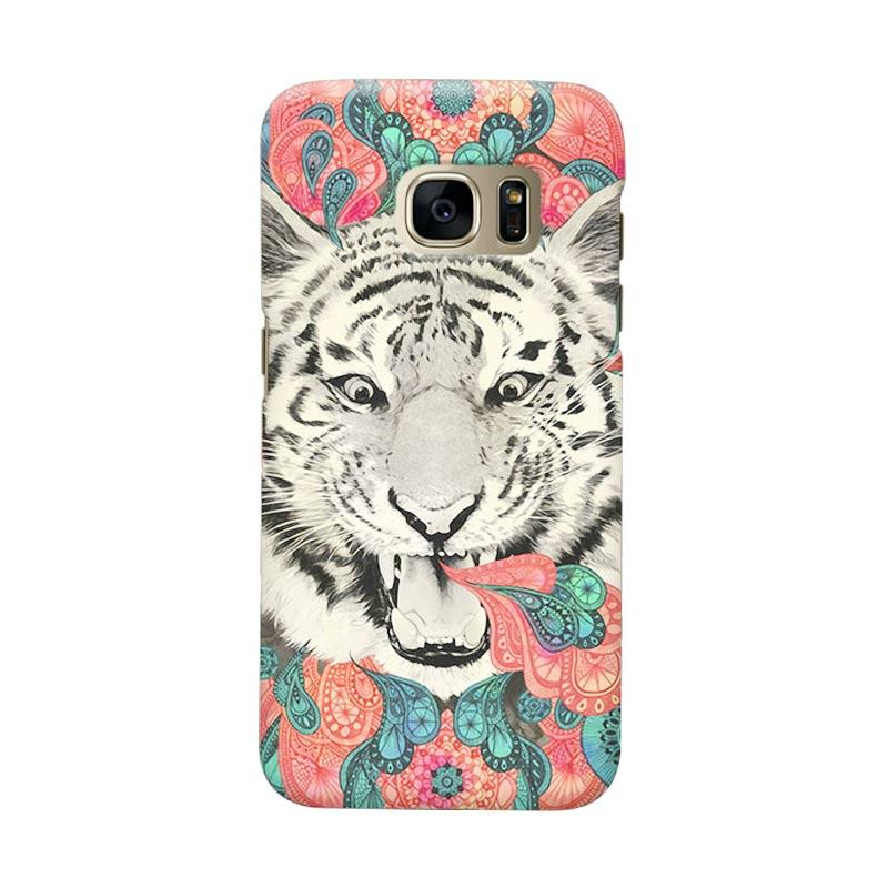 Indocustomcase Tiger Mandala Cover Casing for Samsung Galaxy S6 Edge