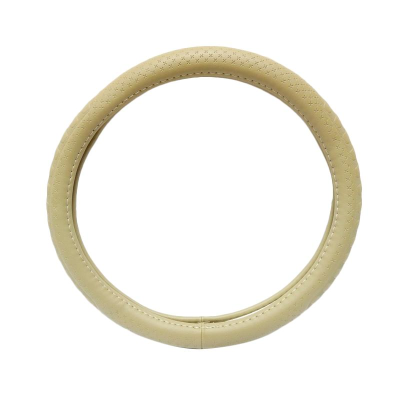SIV Sarung Stir Mobil Import 5368 Steering Wheel Cover Stir Mobil - Beige/Cream