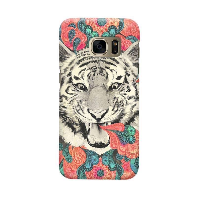 Indocustomcase Tiger Mandala Casing For Samsung Galaxy S7 Edge