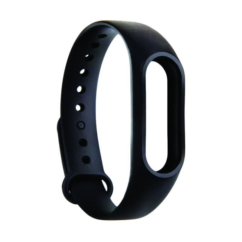 Xiaomi Bracelet Silicone Strap Gelang for Xiaomi Mi Band 2 / Miband 2 / Miband2 / Mi Millet 2 - Black
