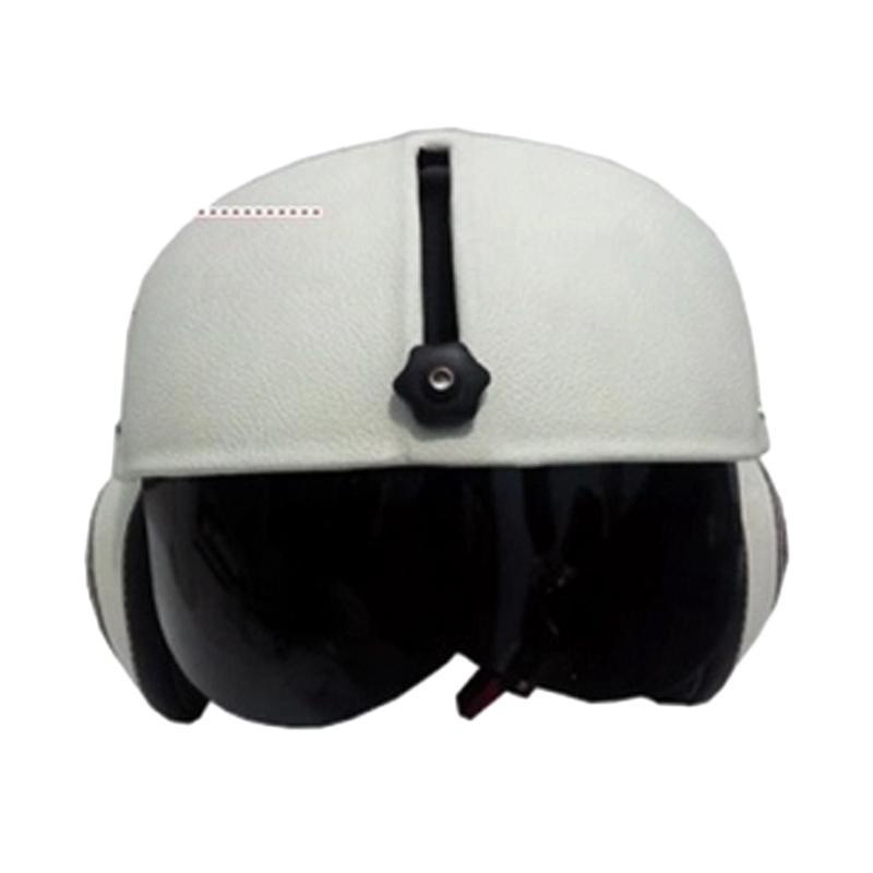 harga Broco Handmade Helm Pilot Kaca Retro Klasik Harley Davidson Full Synthetic Leather Half Face Blibli.com