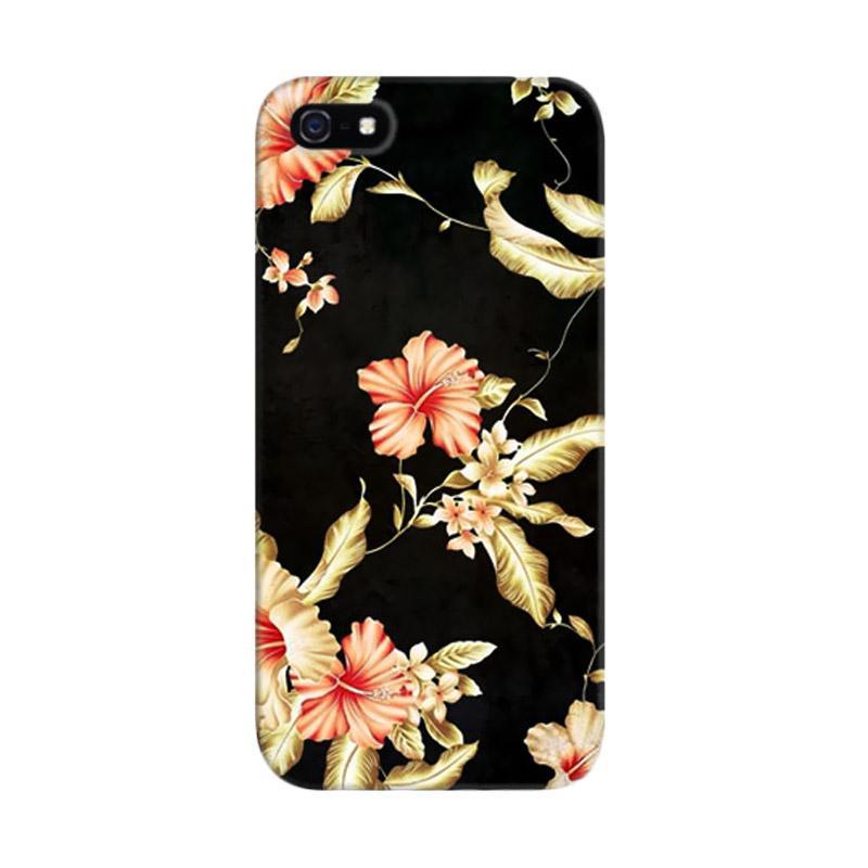 Indocustomcase Flower III Custom Hardcase Casing for Apple iPhone 5/5S/SE