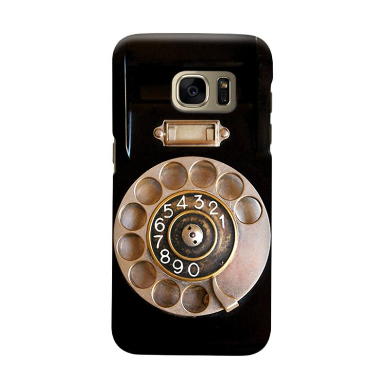 Indocustomcase Wood Telephone Cover Casing for Samsung Galaxy S6