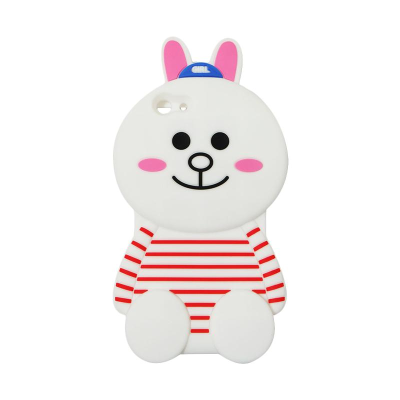 VR 3D Cony Line Edition Silicon Softcase Casing for Oppo F1S Selfie Expert or A59 - White
