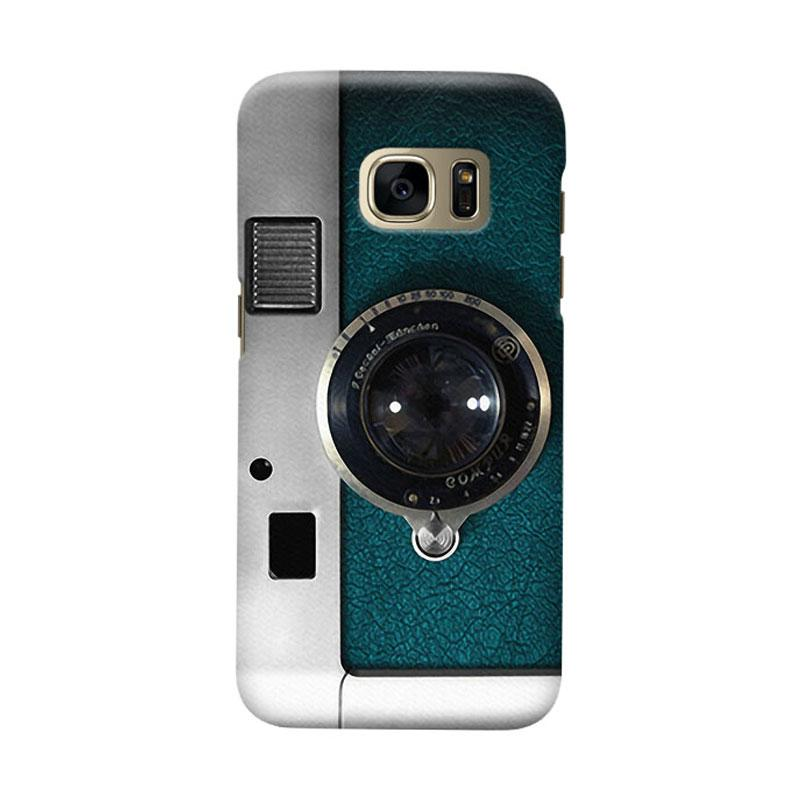 Indocustomcase Camera Cover Casing For Samsung Galaxy SS6 Edge - Green
