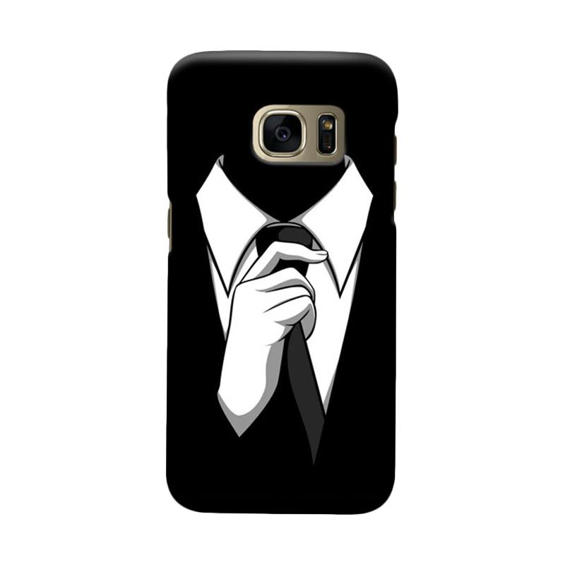 Indocustomcase Anonymous Cover Casing for Samsung Galaxy S7 Edge