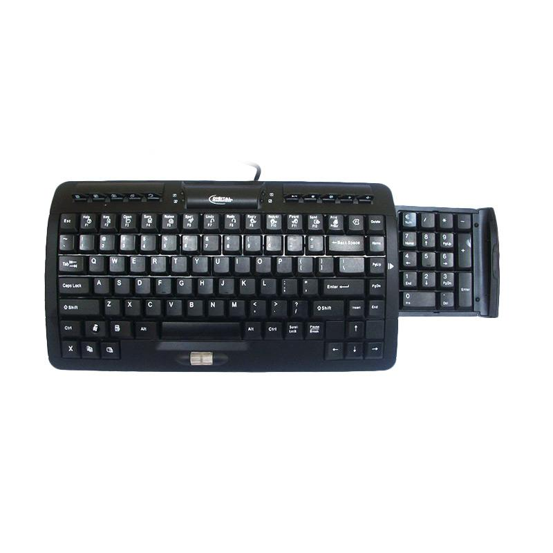 Digital Innovations Comfort Retractable Numpad Multimedia Keyboard - Hitam [USB 2.0]