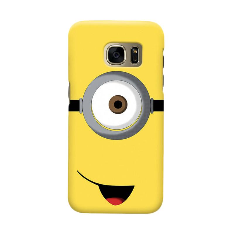 Indocustomcase Cartoon Minion Cover Casing for Samsung Galaxy S6