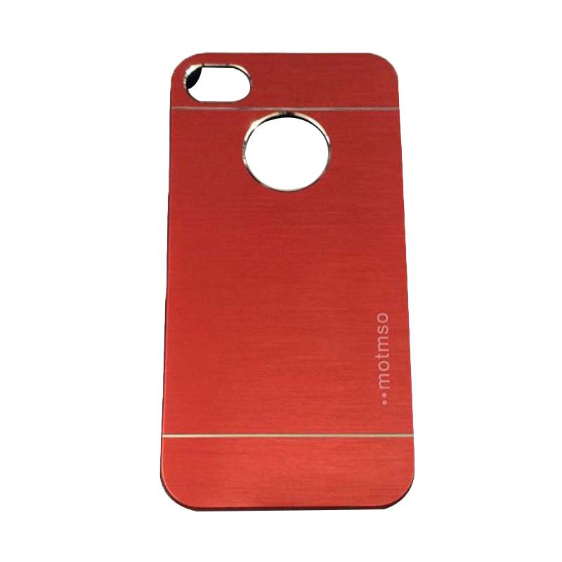 Motomo Metal Hardcase Backcase Casing for Apple iPhone 4/ iPhone 4/ iPhone 4G/ iPhone 4S - Red