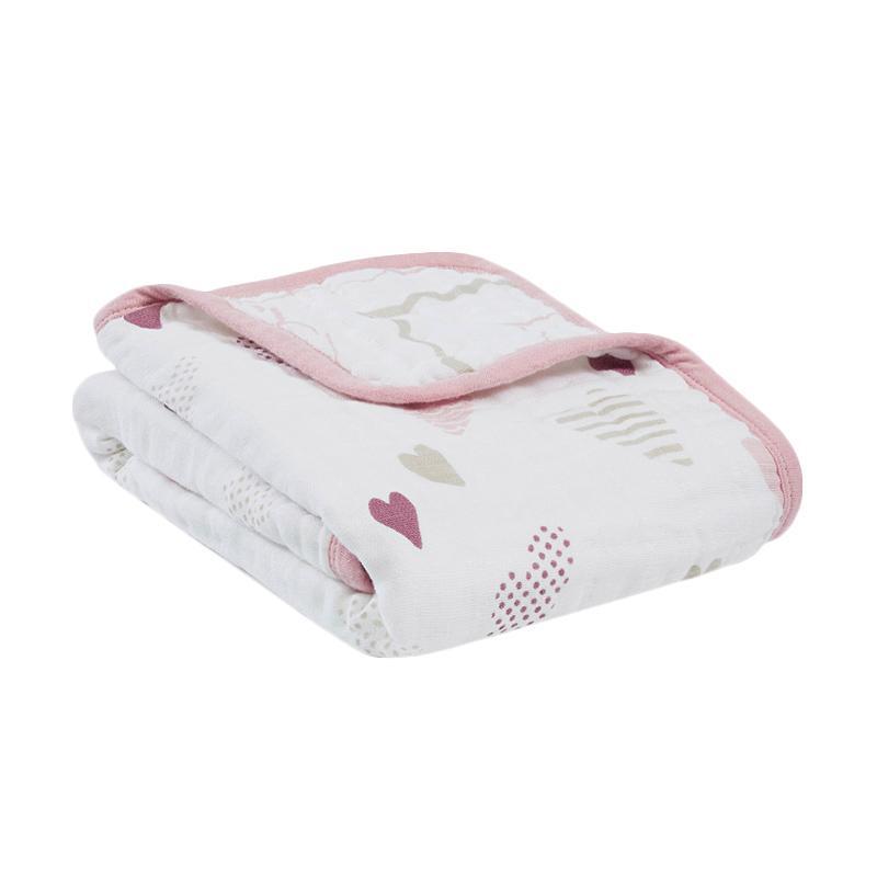 Aden Anais Classic Stroller Blanket Heart Breaker