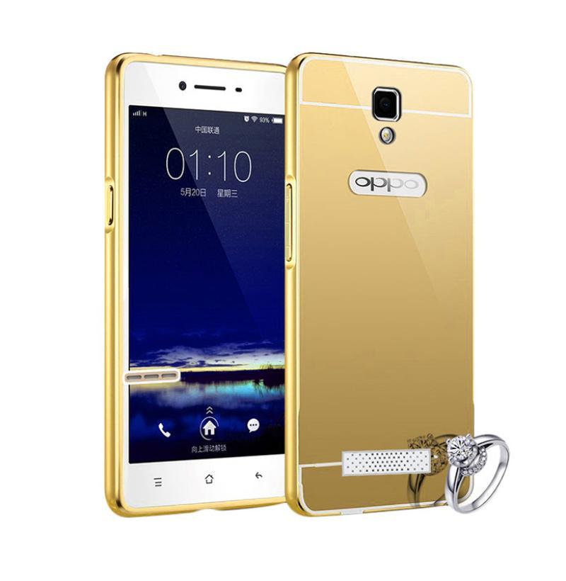 Jual Bumper Mirror Alumunium Metal Sliding Hardcase Casing for Oppo Neo 3 R831K - Gold Online