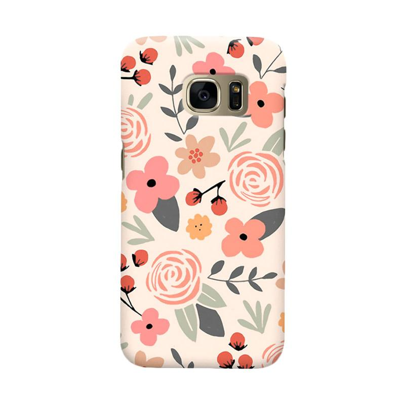 Indocustomcase Flower Fest Cover Casing for Samsung Galaxy S7 Edge
