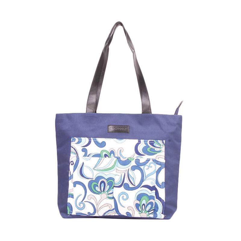 Machupicchu Tote Bag Canvas to Motif BTO-13 Tas Wanita - Flower White Background