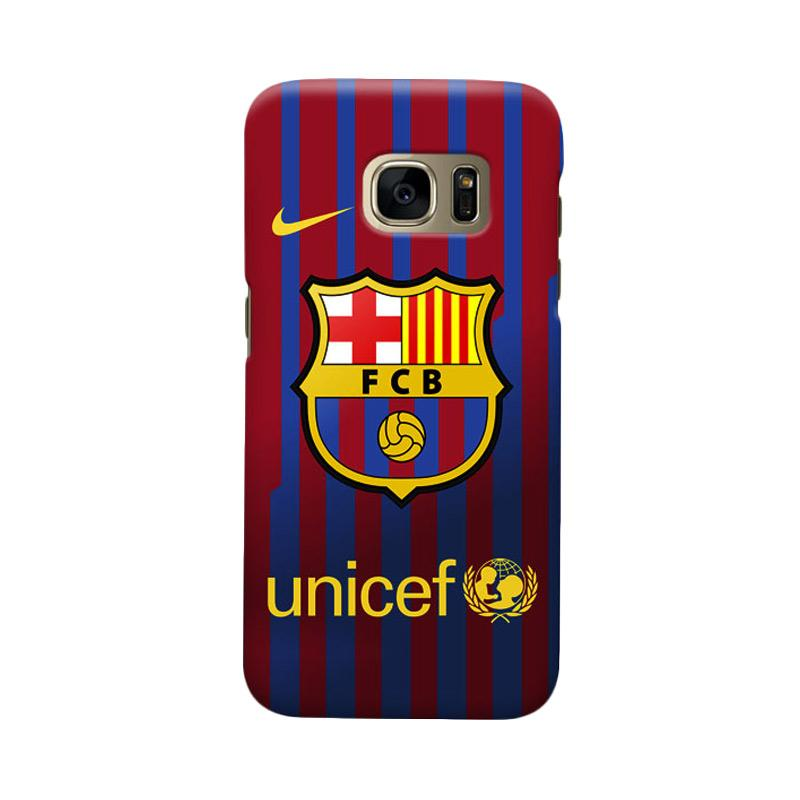 Indocustomcase FC Barcelona FCB10 Cover Casing for Samsung Galaxy S7 Edge