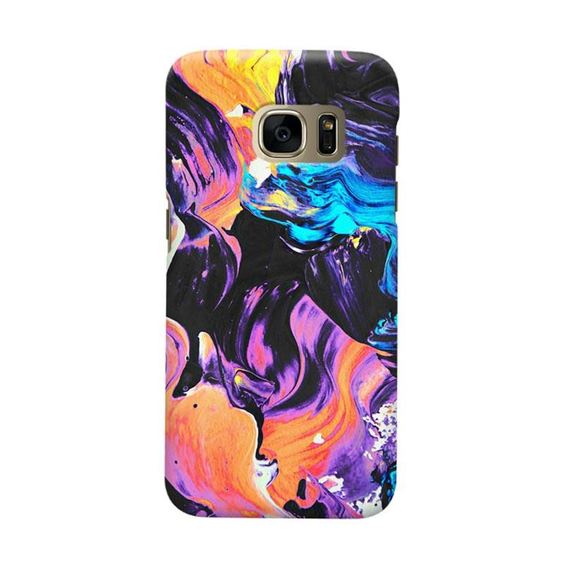 Indocustomcase Water Color Casing For Samsung Galaxy S7 Edge