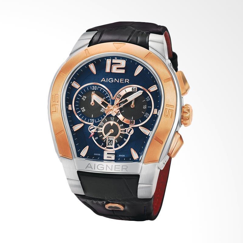 vendedor satisfacción péndulo  Jual Aigner Palermo Chrono Chronograph Leather Jam Tangan Pria - Black  Silver Rose Gold A58508 Online Oktober 2020 | Blibli.com