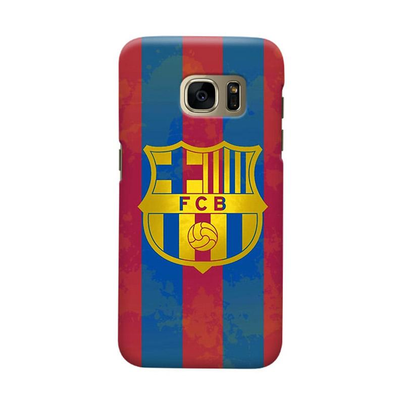 Indocustomcase FC Barcelona FCB12 Cover Casing for Samsung Galaxy S7 Edge