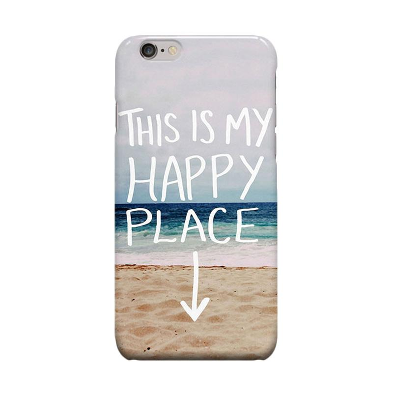Indocustomcase My Happy Place Casing for Apple iPhone 6 Plus or 6S Plus