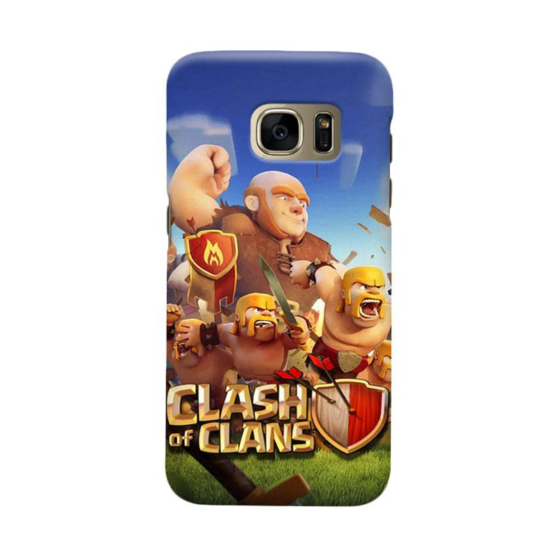 Indocustomcase Clash Of Clans Cover Casing for  Samsung Galaxy S7 Edge