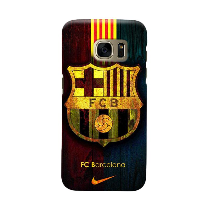 Indocustomcase FC Barcelona FCB04 Cover Casing for Samsung Galaxy S6 Edge