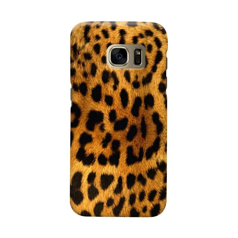Indocustomcase Leopard Skin Cover Casing for Samsung Galaxy S6 Edge