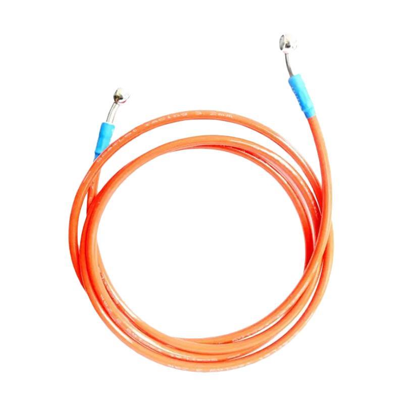 Raja Motor Scarlet 95 cm Disc Brake Mesh Selang Rem Cakram Motor - Orange [SDB8034-Orange]