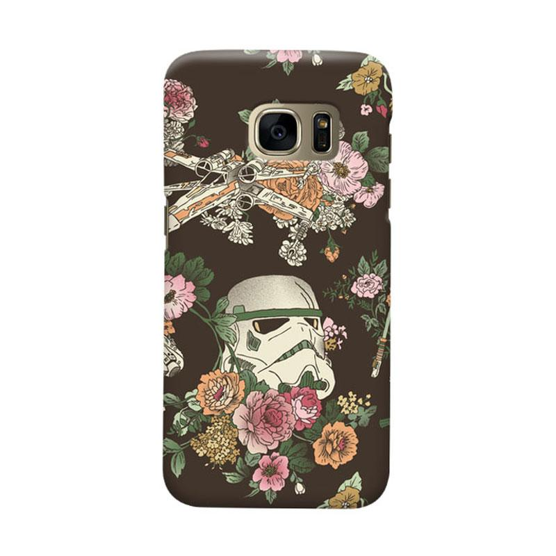 Indocustomcase Botanic Wars Cover Casing for Samsung Galaxy S6 Edge