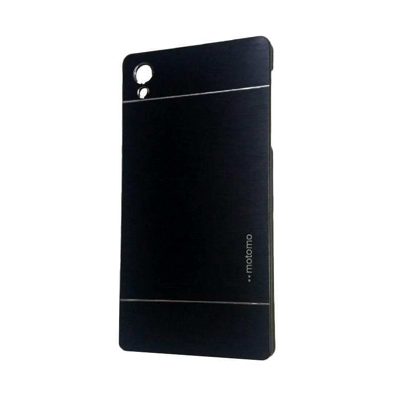 Motomo Metal Hardcase Backcase Casing for Sony Xperia Z5 Plus or Z5 Premium - Black
