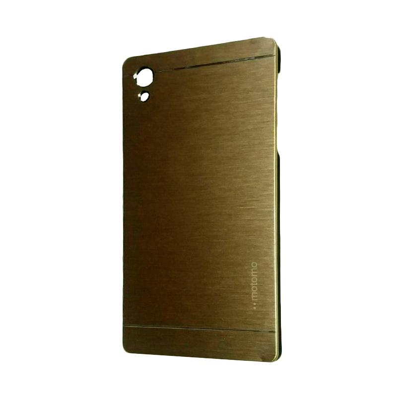 Motomo Metal Hardcase Backcase Casing for Sony Xperia Z5 Plus or Z5 Premium - Gold