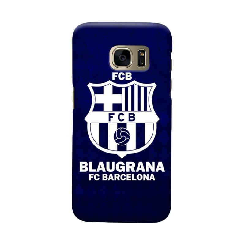 Indocustomcase FC Barcelona FCB08 Cover Casing for Samsung Galaxy S6 Edge