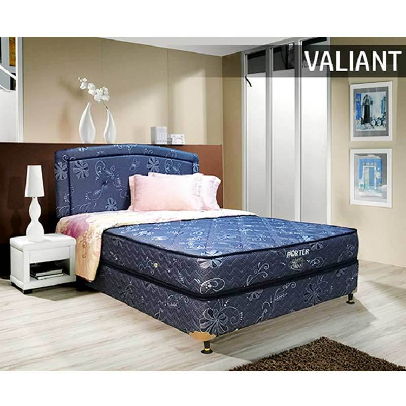 Porter Valiant Bonnel Spring Set Springbeds - Blue [Full Set/Wilayah Jabodetabek]