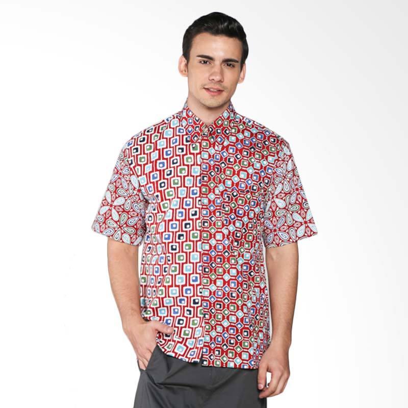 Batik Pria Tampan Teardrop and Mutibox PKMPD-04081653K Men Shirt - Multicolor