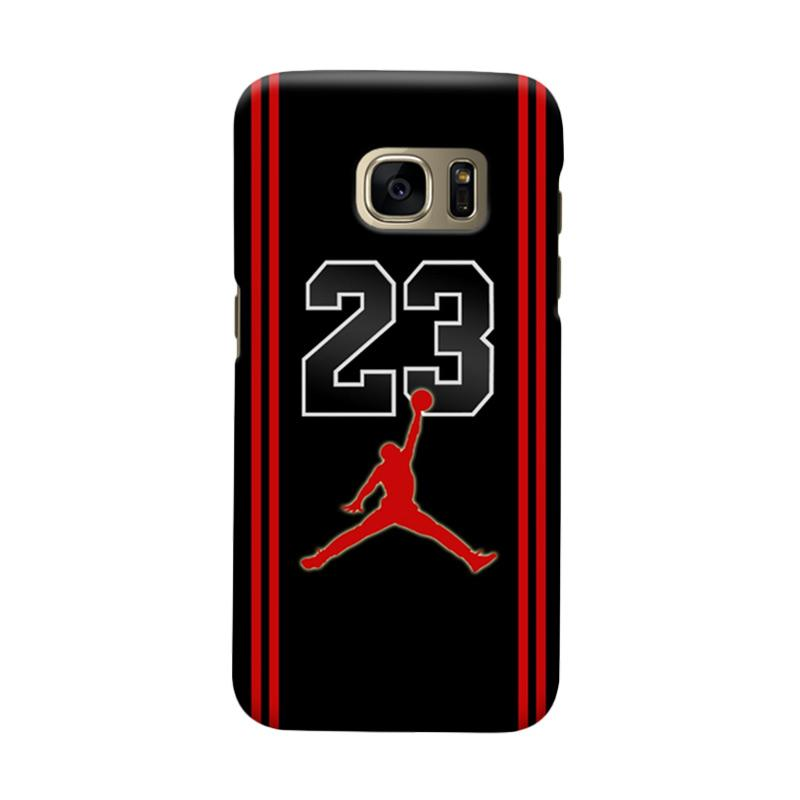 Indocustomcase Mikael Jordan 23 Cover Hardcase Casing for Samsung Galaxy S7 Edge