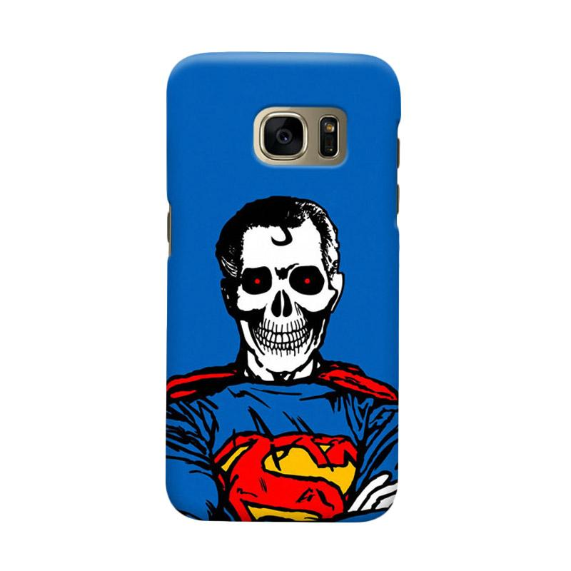 Indocustomcase Superman Dead Cover Casing for Samsung Galaxy S6 Edge
