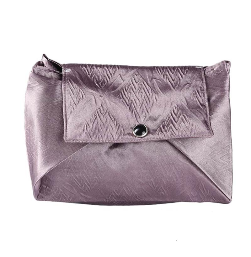 Cynara Studio Brown Crepe Square Pouch DK Sateen Crepe/C Dompet