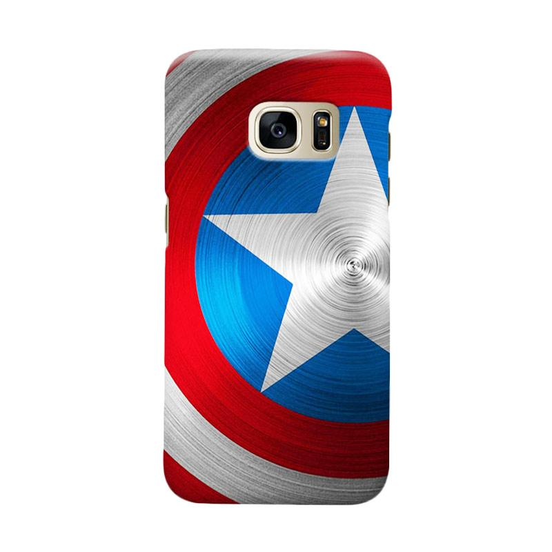 Indocustomcase Captain America Shield Cover Casing for Samsung Galaxy S7