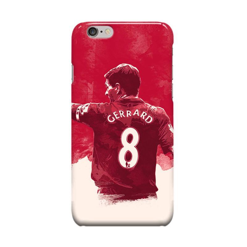Indocustomcase Steven Gerrard Cover Caing for iPhone 6 Plus or 6S Plus