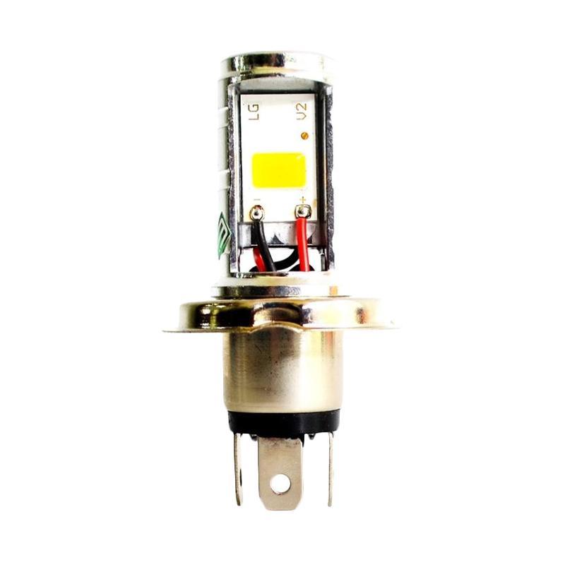 9nine Luminos Aksesoris Motor Lampu Depan LED H4 2 Sisi Plug & Play - Putih [DOH9061-Putih]