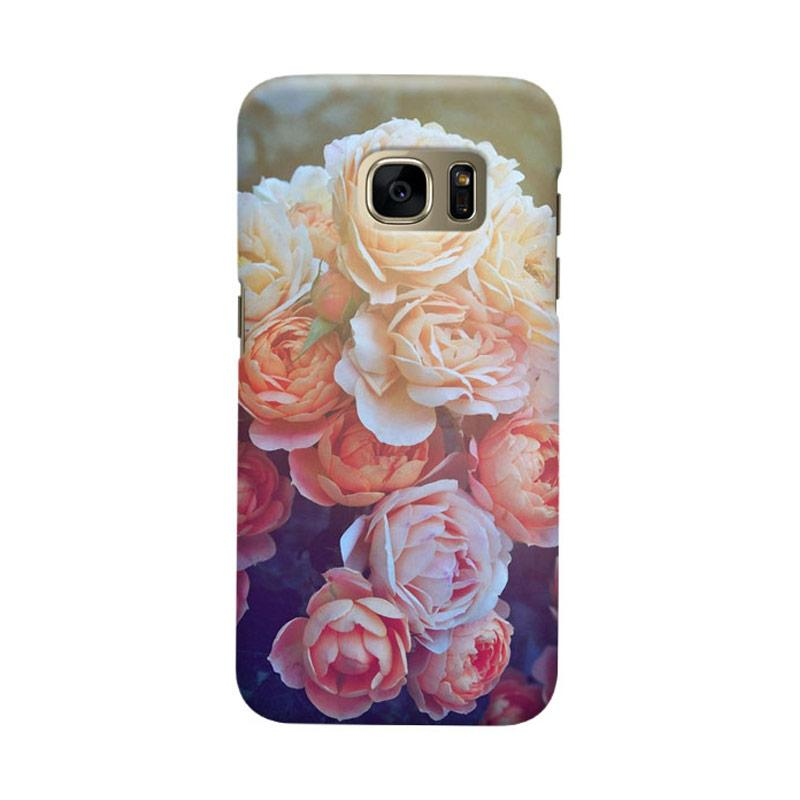 Indocustomcase Flower Julia Cover Casing for Samsung Galaxy S6 Edge