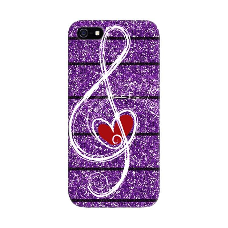 Indocustomcase Love Music Custom Hardcase Casing for Apple iPhone 5/ 5S/ SE