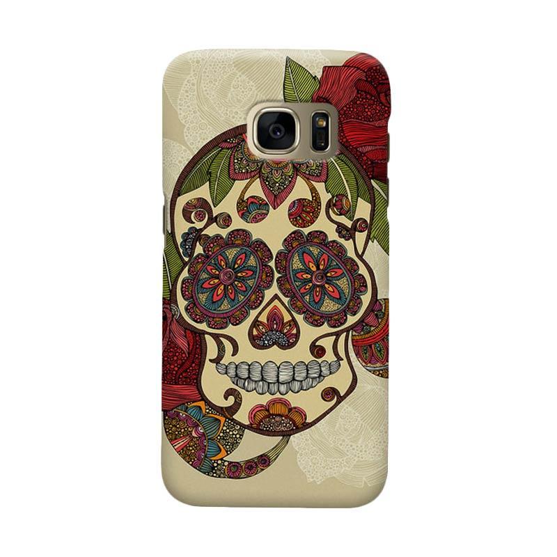 Indocustomcase Sugar Skull Cover Casing for Samsung Galaxy S6 Edge