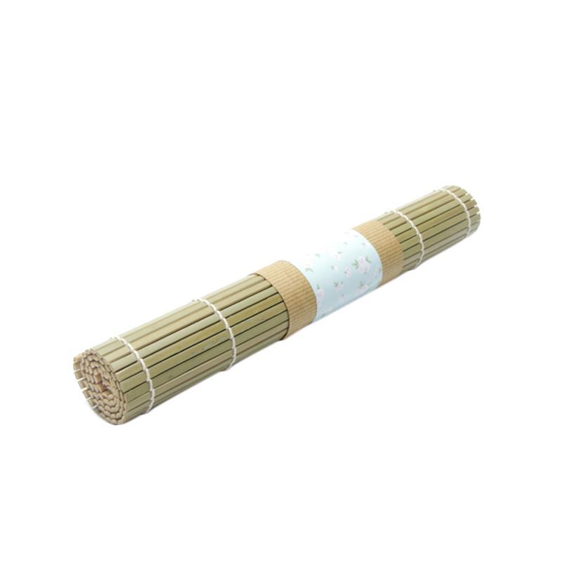 Uchii Rectangle Natural Knotting Bamboo Place Mat Taplak Meja Makan atau Alas Piring